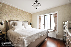 面积103平美式三居卧室效果图片大全