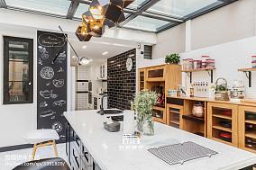 2018面积122平别墅厨房混搭实景图餐厅4图潮流混搭设计图片赏析