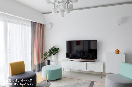 质朴112平混搭三居客厅装修设计图