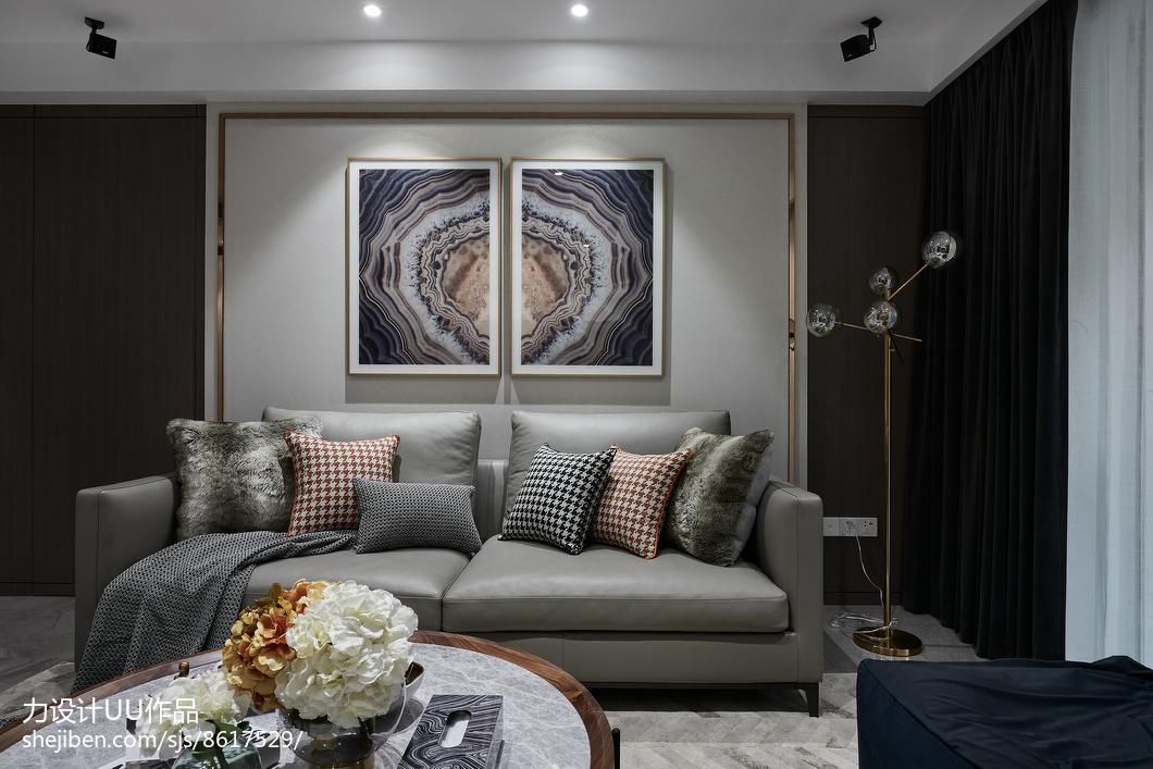 平方三居客厅混搭装修设计效果图客厅