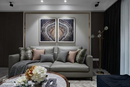 201895平方三居客厅混搭装修设计效果图