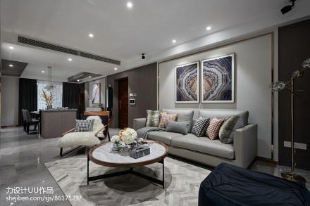 92平米3室客厅混搭欣赏图片三居潮流混搭家装装修案例效果图
