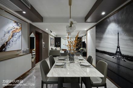 混搭三居大理石餐厅设计图厨房