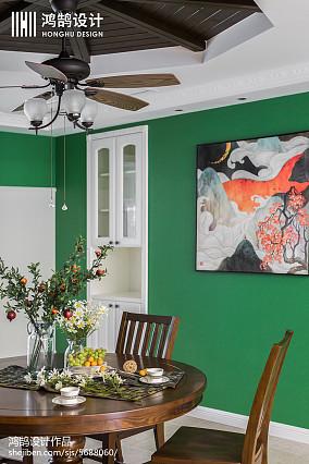 精美面积91平美式三居餐厅装修效果图片欣赏