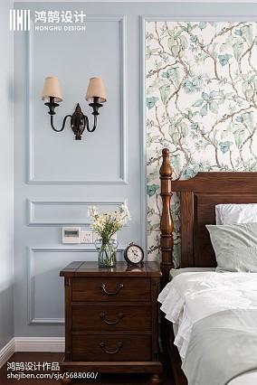 热门面积100平美式三居卧室装饰图片欣赏