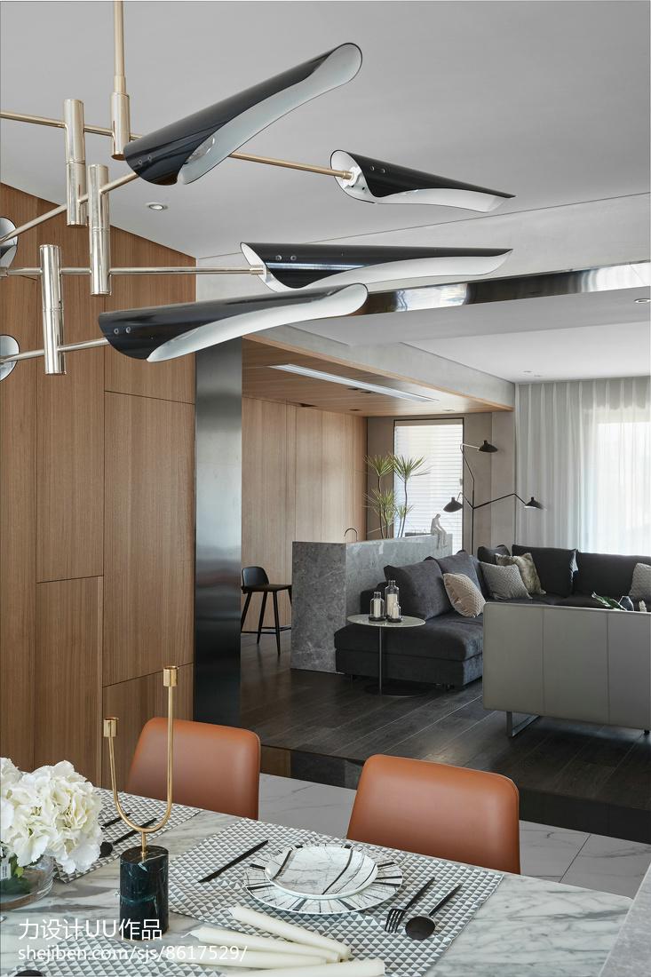 90平大小三居混搭装修效果图片客厅