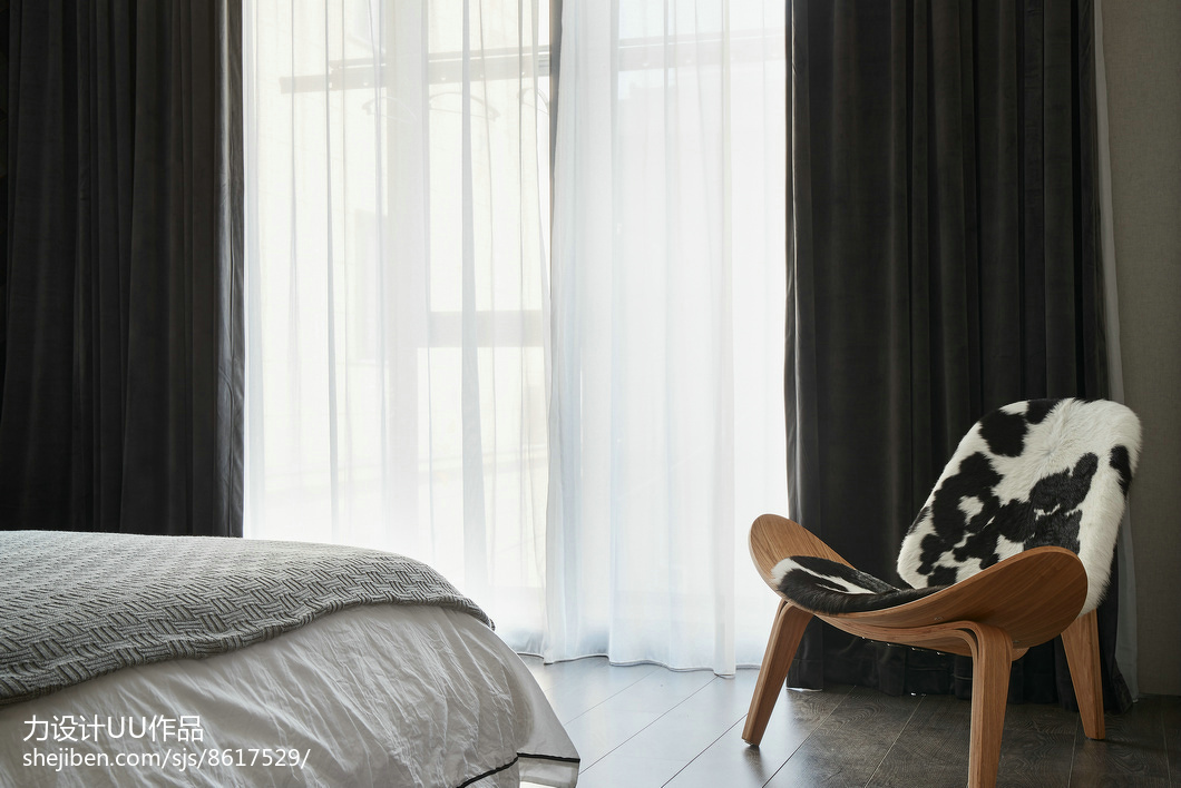 精美103平米三居卧室混搭装修设计效果图片欣赏卧室