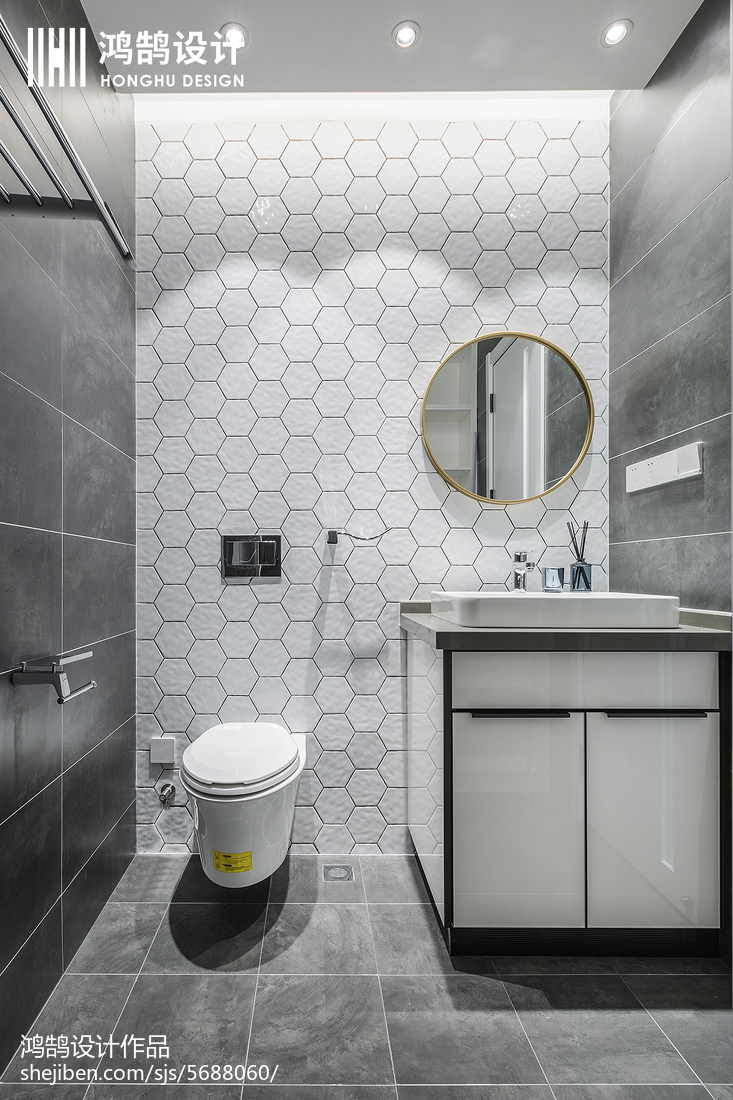 热门三居卫生间现代设计效果图卫生间马桶现代简约卫生间设计图片赏析