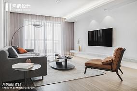 平米三居客厅现代装修实景图三居现代简约家装装修案例效果图