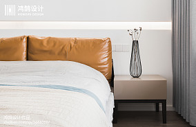 面积104平现代三居卧室装修设计效果图片欣赏三居现代简约家装装修案例效果图