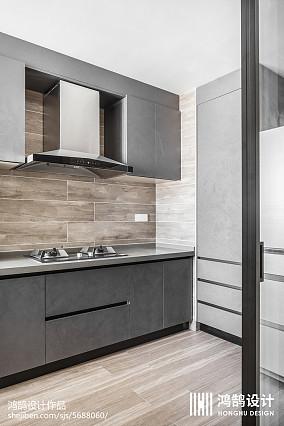 140平现代风厨房设计图三居现代简约家装装修案例效果图