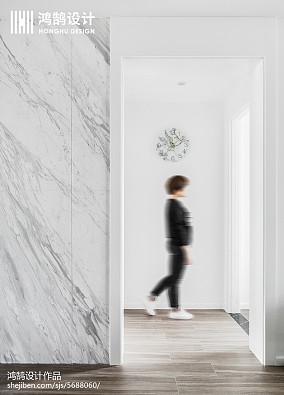2018精选大小96平现代三居过道装饰图三居现代简约家装装修案例效果图