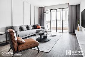 94平方三居客厅现代实景图三居现代简约家装装修案例效果图