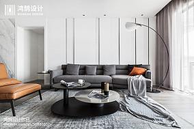 热门108平米三居客厅现代装修欣赏图三居现代简约家装装修案例效果图