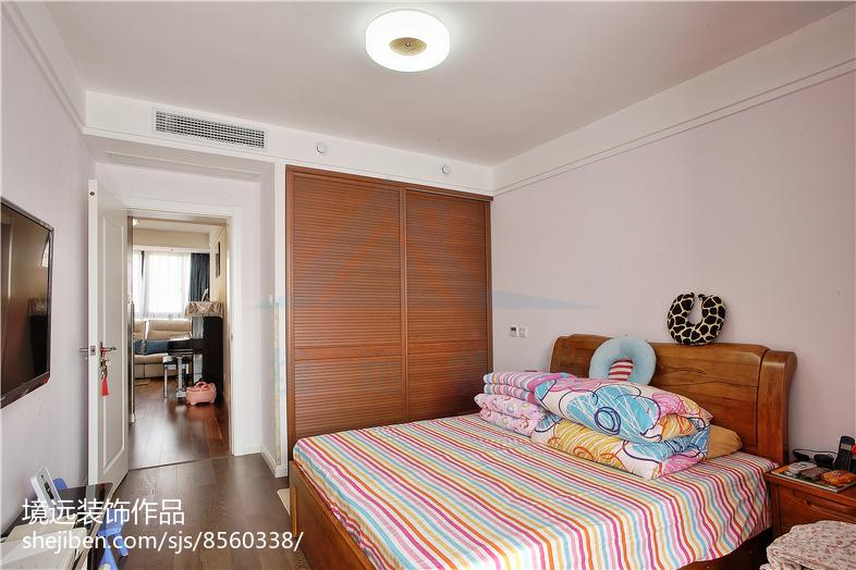 精选75平方二居卧室混搭装修欣赏图片大全卧室