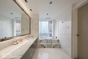 2018现代别墅卫生间装修欣赏图片卫生间现代简约设计图片赏析