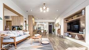 精美面积105平日式三居客厅效果图