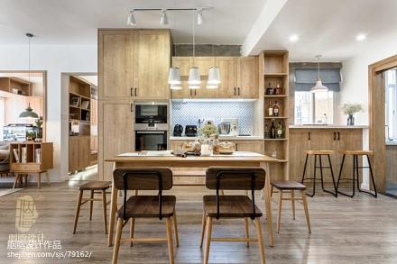 华丽73平日式三居餐厅装修案例厨房