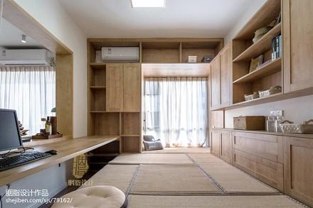 轻奢117平日式三居书房实拍图功能区