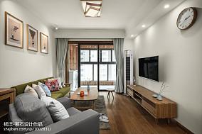 2018三居客厅日式装修实景图片欣赏三居日式家装装修案例效果图