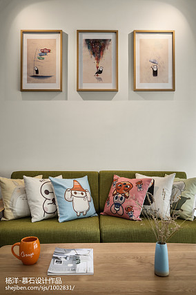 面积102平日式三居客厅装修效果图片欣赏三居日式家装装修案例效果图