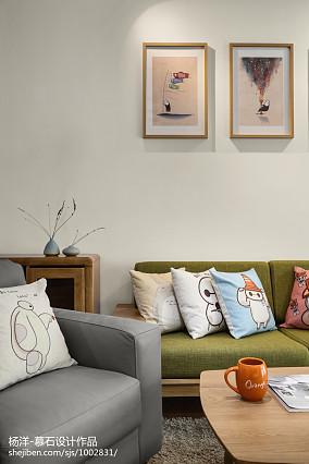 热门104平米三居客厅日式装修欣赏图片三居日式家装装修案例效果图