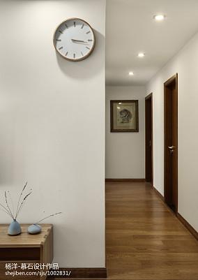 精选95平米三居过道日式装饰图片三居日式家装装修案例效果图