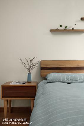热门三居卧室日式装修实景图三居日式家装装修案例效果图