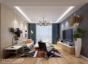 田园装饰设计6平米客厅电视背景墙