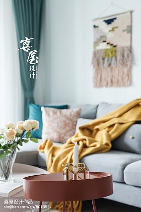 精选86平米二居客厅北欧装修实景图片大全二居北欧极简家装装修案例效果图