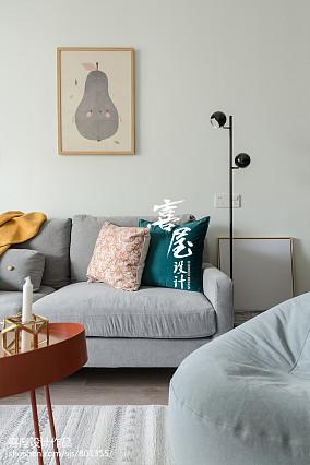 精美面积90平北欧二居客厅装修实景图片欣赏二居北欧极简家装装修案例效果图