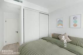 2018精选面积82平北欧二居卧室装修实景图片大全二居北欧极简家装装修案例效果图