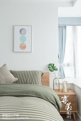 2018二居卧室北欧装饰图二居北欧极简家装装修案例效果图