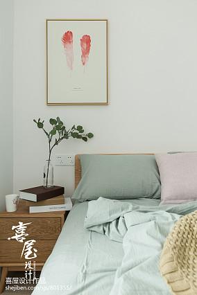 平米二居卧室北欧装修图片二居北欧极简家装装修案例效果图
