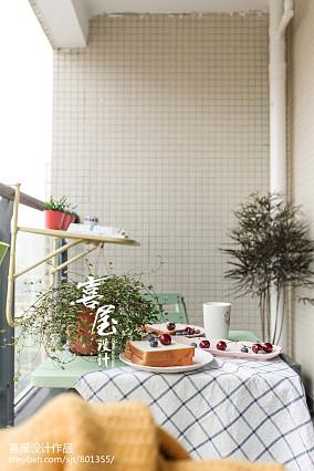精选北欧二居阳台装修设计效果图二居北欧极简家装装修案例效果图