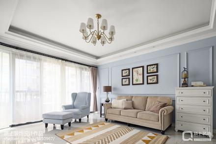 温馨95平美式四居客厅设计图客厅