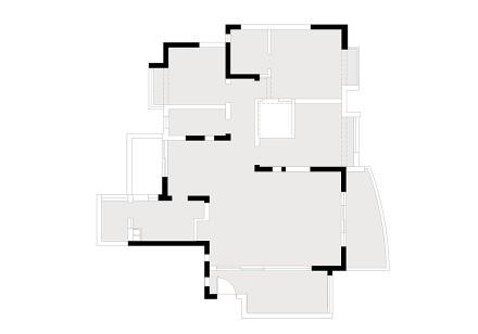 优雅124平美式三居客厅实景图片