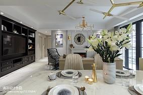 2018精选98平方三居客厅美式装修效果图片欣赏