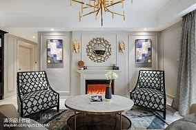 优美72平美式三居客厅效果图欣赏三居美式经典家装装修案例效果图