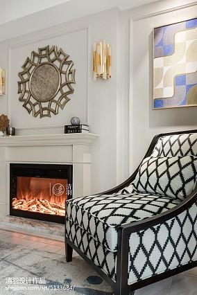 精选93平方三居客厅美式装修设计效果图片大全三居美式经典家装装修案例效果图