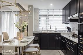 美式开放式厨房设计图三居美式经典家装装修案例效果图
