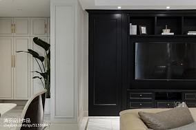 悠雅80平美式三居客厅案例图三居美式经典家装装修案例效果图