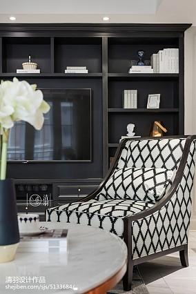 优雅81平美式三居客厅设计图三居美式经典家装装修案例效果图