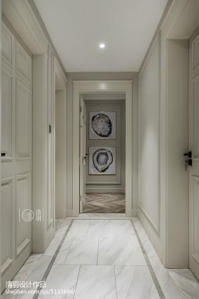 精美107平米三居过道美式装修设计效果图片欣赏三居美式经典家装装修案例效果图