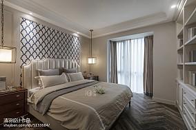 精选108平米三居卧室美式装饰图片欣赏三居美式经典家装装修案例效果图