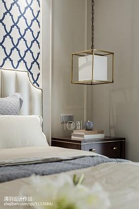 简洁99平美式三居卧室实景图三居美式经典家装装修案例效果图