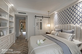 热门面积98平美式三居卧室装修欣赏图三居美式经典家装装修案例效果图