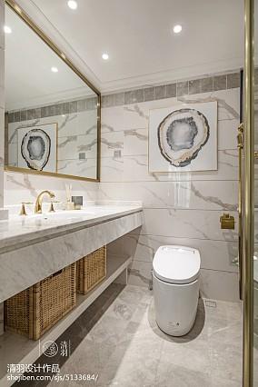 精选三居卫生间美式装修图片欣赏三居美式经典家装装修案例效果图