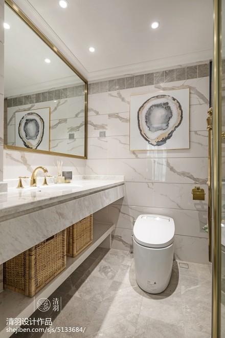精选三居卫生间美式装修图片欣赏卫生间
