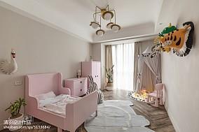 精美美式三居儿童房欣赏图三居美式经典家装装修案例效果图